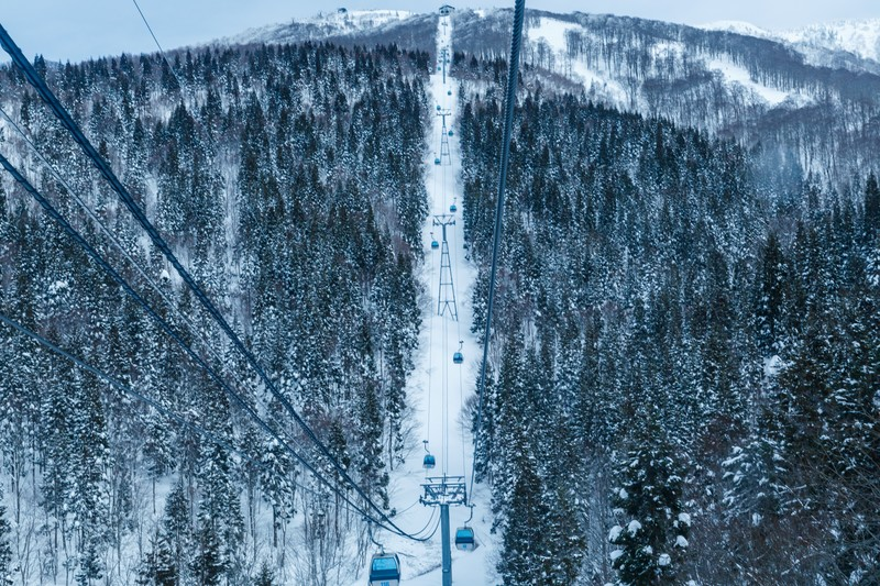 スキー場のゴンドラ